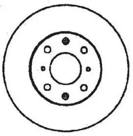 Задний тормозной диск на Хонда Концерто 'JURID 561383JC'.