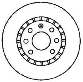 Вентилируемый передний тормозной диск 'JURID 561488JC'.
