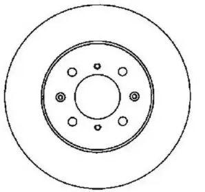 Вентилируемый передний тормозной диск на HONDA CITY 'JURID 561630JC'.