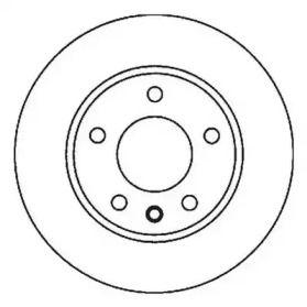 Вентилируемый передний тормозной диск 'JURID 562039JC'.