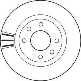 Вентилируемый передний тормозной диск JURID 562128JC.