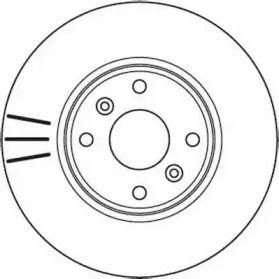 Вентилируемый передний тормозной диск на DACIA DOKKER 'JURID 562103JC'.