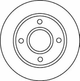 Вентилируемый передний тормозной диск на Форд Фьюжн 'JURID 562078JC'.
