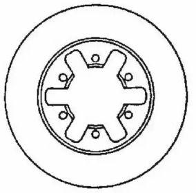 Вентилируемый передний тормозной диск на FORD MAVERICK 'JURID 561523JC'.