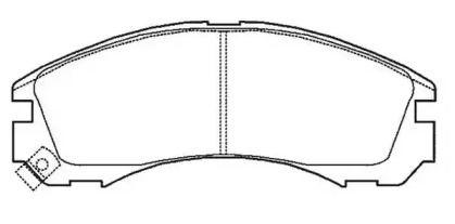 Переднї гальмівні колодки 'JURID 572447J'.