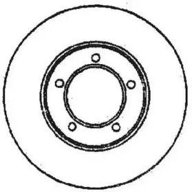Вентилируемый передний тормозной диск на Тайота Солара 'JURID 561676JC'.