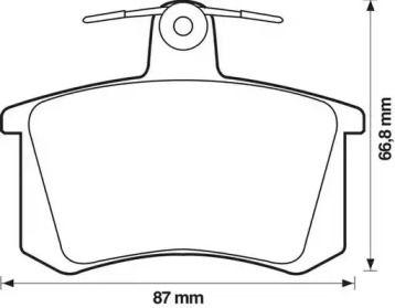 Задняя тормозные колодки 'JURID 571462J'.