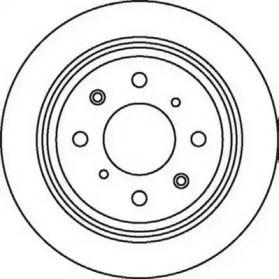 Задний тормозной диск на ACURA INTEGRA 'JURID 562016JC'.