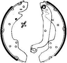 Барабанные тормозные колодки на Шкода Октавия А5 'JURID 361283J'.