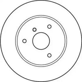 Передний тормозной диск на Смарт Кабрио 'JURID 562155JC'.