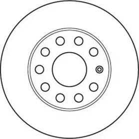 Задний тормозной диск 'JURID 562238JC'.