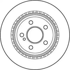 Вентилируемый задний тормозной диск на MERCEDES-BENZ GLK 'JURID 562242JC'.