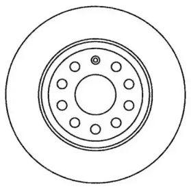 Задний тормозной диск на Фольксваген Пассат Олтрек 'JURID 562258JC'.
