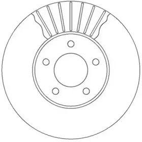 Вентилируемый передний тормозной диск на Лянча Вояджер 'JURID 562292JC'.