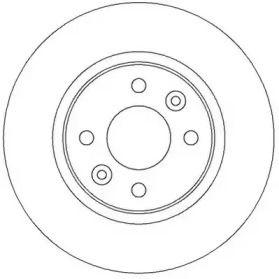 Передний тормозной диск 'JURID 562293JC'.