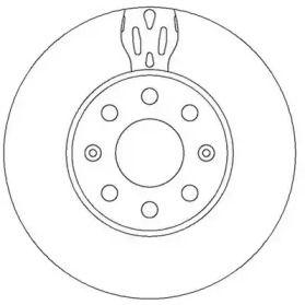 Вентилируемый передний тормозной диск на OPEL ADAM 'JURID 562304JC'.