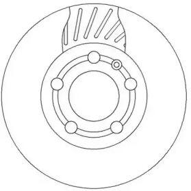Вентилируемый передний тормозной диск 'JURID 562307JC'.