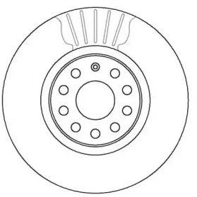 Вентилируемый передний тормозной диск JURID 562387JC.