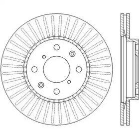 Вентилируемый передний тормозной диск 'JURID 562456JC'.