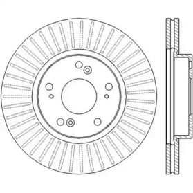 Вентилируемый передний тормозной диск на Хонда ФРВ 'JURID 562457JC'.
