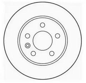 Вентилируемый передний тормозной диск 'JURID 562054JC'.
