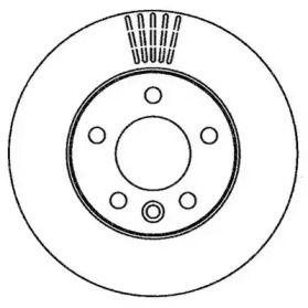 Вентилируемый задний тормозной диск 'JURID 562262JC'.
