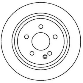 Задний тормозной диск 'JURID 562263JC'.