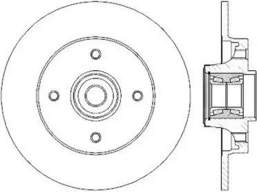 Задний тормозной диск 'JURID 562374J'.