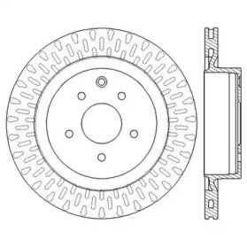 Вентилируемый задний тормозной диск на NISSAN 350Z 'JURID 562577JC'.