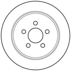 Задний тормозной диск на Додж Стратус 'JURID 562656JC'.