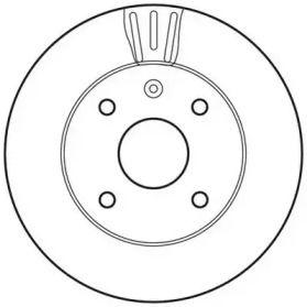 Вентилируемый передний тормозной диск на DODGE NEON 'JURID 562662JC'.