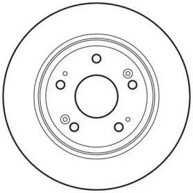 Задний тормозной диск 'JURID 562687JC'.