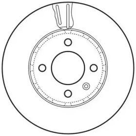 Вентилируемый передний тормозной диск на Шкода Ситиго 'JURID 562727JC'.