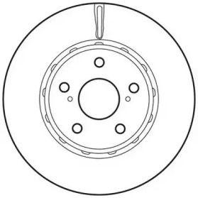 Вентилируемый передний тормозной диск на Тайота Альфард 'JURID 562729JC'.