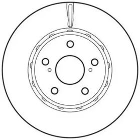 Вентилируемый передний тормозной диск на TOYOTA ALPHARD 'JURID 562729JC'.
