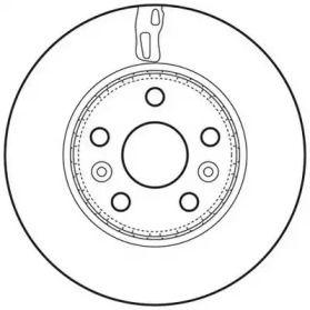 Вентилируемый передний тормозной диск 'JURID 562730JC'.