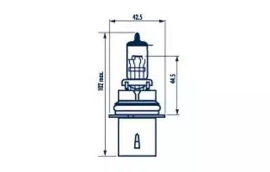 Лампа накаливания, противотуманная фара 'NARVA 48007'.