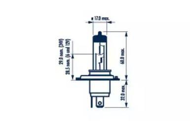 Лампа фари на Мазда МПВ 'NARVA 48889'.
