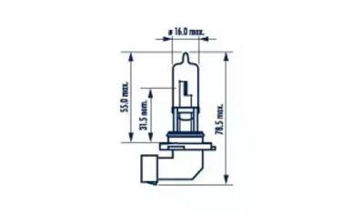 Лампа фары 'NARVA 48616'.