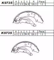 Барабанные тормозные колодки ASIMCO K9735.