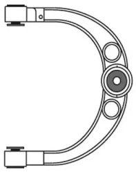 Верхній лівий важіль передньої підвіски на Мерседес Гл Клас  FRAP 3123.