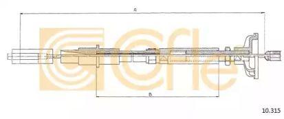 Трос сцепления на VOLKSWAGEN GOLF 'COFLE 10.315'.