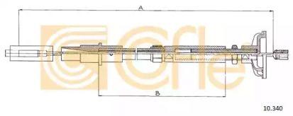 Трос сцепления на Фольксваген Гольф 'COFLE 10.340'.