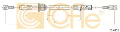 Трос ручника COFLE 10.6852.