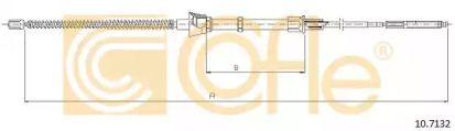 Трос ручника на VOLKSWAGEN GOLF 'COFLE 10.7132'.