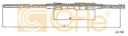 Трос ручника на VOLKSWAGEN GOLF 'COFLE 10.740'.