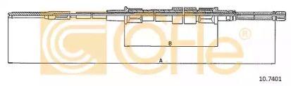 Трос ручника на Сеат Толедо 'COFLE 10.7401'.