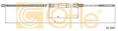 Трос ручника на Фольксваген Гольф 'COFLE 10.7407'.