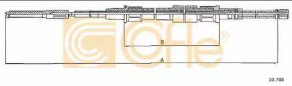 Трос ручника на Фольксваген Пассат 'COFLE 10.748'.