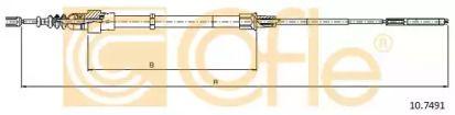 Трос ручника на VOLKSWAGEN PASSAT 'COFLE 10.7491'.